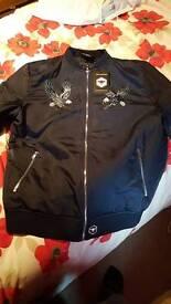 Bee inspired bomber jacket