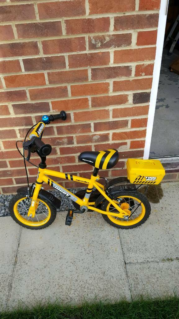 Digby first bike. With stabilisers