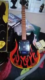 Rock guitar cd player