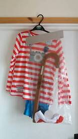 WHERE'S WALLY OUTFIT/ FANCY DRESS. NEW IN PACKET.
