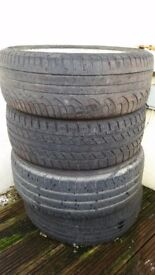 Set of 4 Allow Wheels & Tyres Nisan - 195/55 R16. Good Condition