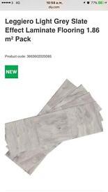 12 packs of slate gray effect laminate flooring