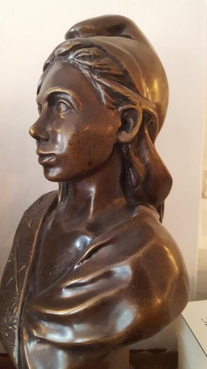 Bronze, buste de Marianne maçonnique- franc maçonnerie