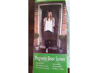 Magnetic Door Screen Keep Fresh Air In And Bugs Out - Brand New £4