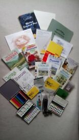 Watercolour collection, books and materials