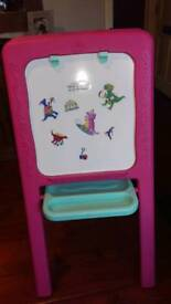 Elc pink easel with magnetic extras