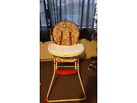 Easy to put away highchair