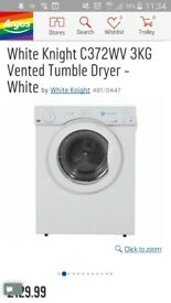 3kg tumble dryer never used