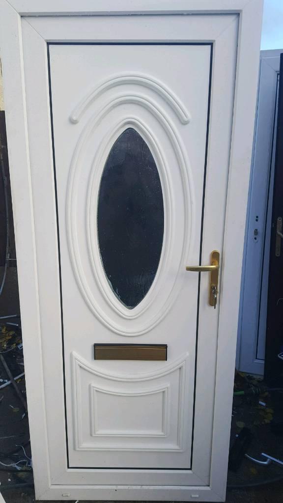 White upvc external door size h 78 1/4 in w 33 2in   in East End ...
