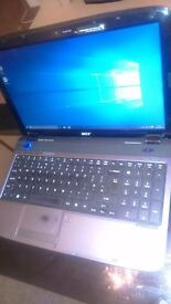 Acer Aspire 5536 Laptop Win10 Pro, HDMI, Webcam, dual Core 4gb Ram, 320gb HDD, Dolby Surround Sound