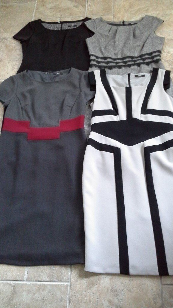 Four smart casual dresses size 12 by M & S - as new