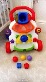 Chicco baby walker with balls and shapes