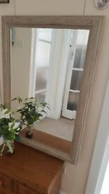 Shabby chic bevelled mirror finished in Annie Sloan chalk paint 88 x 62 cm