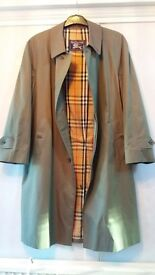 MENS BURBERRY TRENCH COAT----AS NEW----UNMARKED----RARE 100% COTTON ******20 POUND REDUCTION******