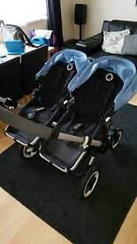 BUGABOO DOUBLE PUSHCHAIR (CARRYCOT)