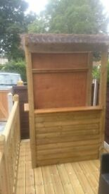 OUTDOOR TIMBER BAR - brand new / installed 4ft x 2ft ANY LOCATION
