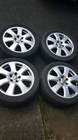 Genuine jaguar alloy wheels & tyres