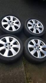 Genuine jaguar alloy wheels & tyres