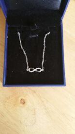 Silver Cubic Zirconia Diamond Infinity Bracelet Jewelry