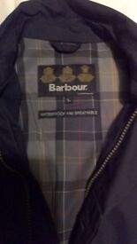 Barbour trench coat waterproof and breathable large men's