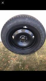 """1x 15"""" steel wheel"""