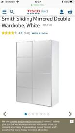 Brand new smith slider wardrobe in white cost £450 take £180 flat pack new