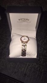 Rotary rose gold watch - worn once!!