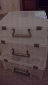 3 large storage/toy/art/craft boxes - Artbin