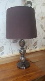 Large brown glass crackle glaze lamp