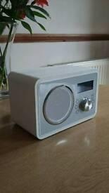 Red Inspired Listening Wood Effect Cream DAB+ Digital Radio