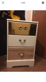 Upcycled chest of draws bedside cabinet 64x39x39Cm