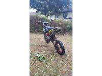 Demon xlr 160 ( wpb stomp cw m2r ycf)full rolling frame and spares z155 engines ( 110 125 150 140 )