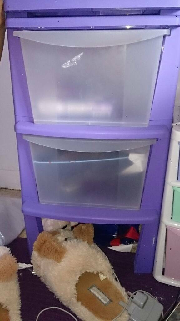 Small purple cabinet draws
