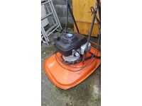 Four stroke petrol flymo 160cc in great working order has a brand new skirt on it