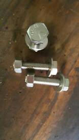 Stainless nuts. Bolts and washers x10