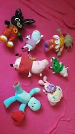 Various childrens teddies