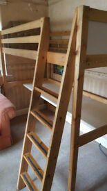 Single Cabin Bed With Desk (Mattress Included)