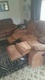 Pair of matching reclining settees