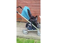 Joie Chrome Teal buggy carrycot and baby car seat