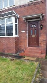 Two bed room end terraced property with downstairs toilet to rent.