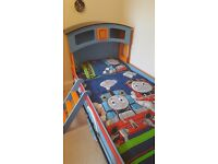 Wooden Thomas the Tank Engine Single bed frame with mattress
