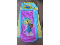 Fifi and the Flower Tots junior inflateable ready bed with sleeping bag and pump