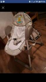 Hauck Disney Sit N Relax 2 in 1 bouncer and high chair.