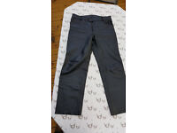 Mens leather jeans style motorcycle trousers - size 36 UK