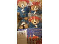 M&S 1 PADDINGTON BEAR & 1 CHRISTMAS VISITOR BOOK BUNDLE - LIMITED EDITION - BNWT