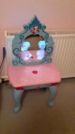 Frozen dressing table and Elsa singing doll
