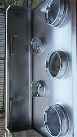 5 burner Chinese wok burner cooker commercial
