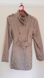Apricot trench coat beige/gold size 12, never worn