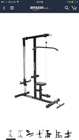 Lat pulldown (no weight included)