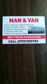Man and Van removal service cheapest in Manchester